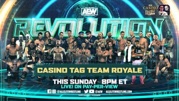 Casino Tag Team Royale AEW Revolution