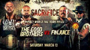 IMPACT World Tag Team Championship Match Sacrifice