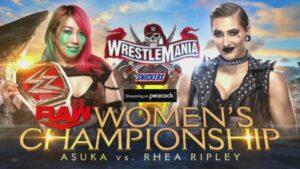 Rhea Ripley Asuka WrestleMania