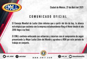CMLL Terminates