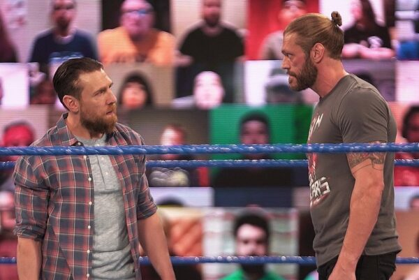 Edge and Daniel Bryan staredown on SmackDown