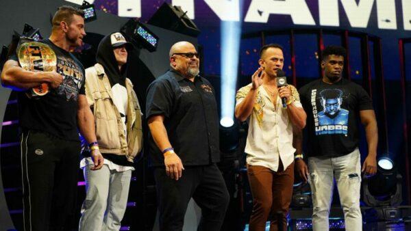 Team Taz (Taz, Hook, Brian Cage, Will Hobbs, Ricky Starks)