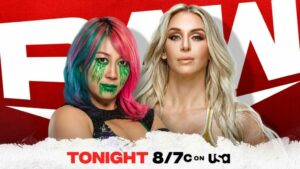 WWE Raw card Asuka vs Charlotte Flair