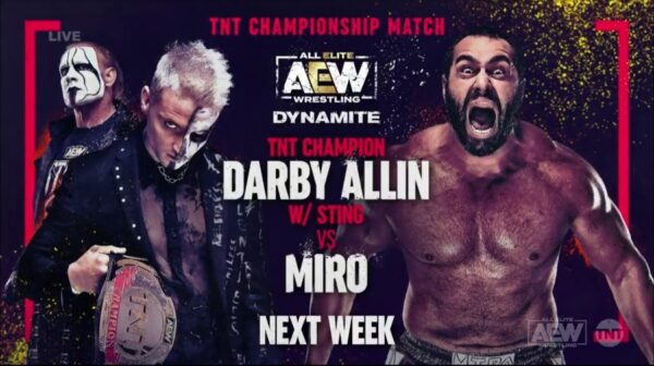 Darby Allin vs Miro AEW Dynamite Results