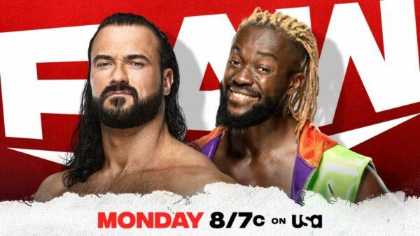 Drew McIntyre vs Kofi Kingston WWE Raw card