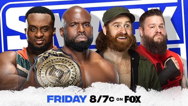 SmackDown Fatal Four-Way For Intercontinental Championship Apollo Crews Big E Sami Zayn Kevin Owens