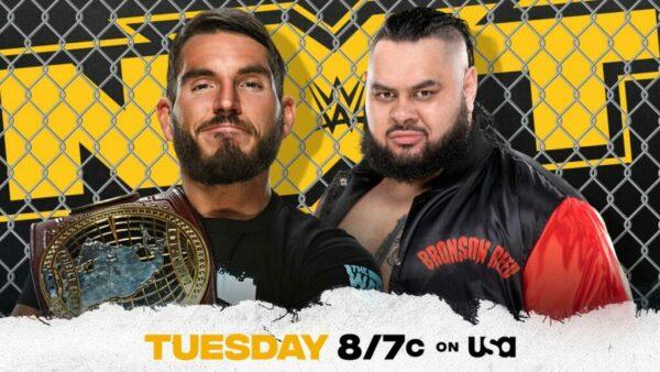 Johnny Gargano vs Bronson Reed WWE NXT card