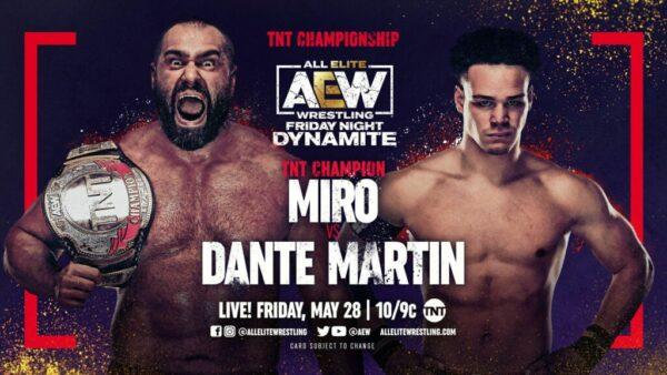 Miro vs Dante Martin AEW Dynamite results