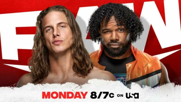 Riddle vs Xavier Woods WWE Raw card