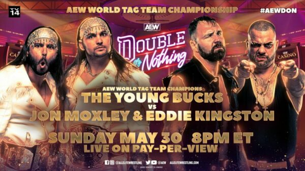 The Young Bucks vs Jon Moxley and Eddie Kingston AEW Double or Nothing