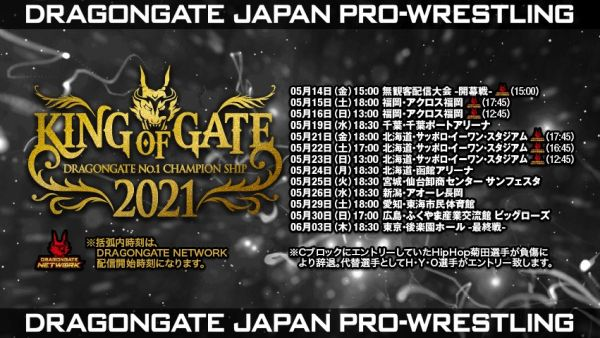 Dragon Gate King of Gate 2021