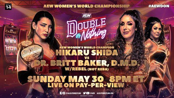 Hikaru Shida vs. Britt Baker AEW Double or Nothing