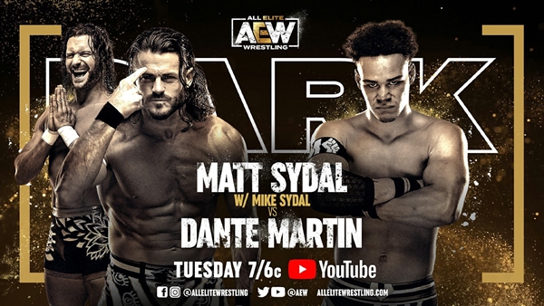 AEW Dark Card Sydal vs Martin