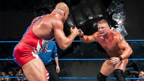 Brock Lesnar and Kurt Angle in an 60 Minute Iron Man