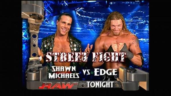 Edge vs Shawn Michaels