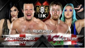 NXT UK card Conners Jinny vs Subculture