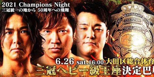 Jake Lee vs. Kento Miyahara vs. Yuma Aoyagi Champions Night