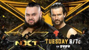Bronson Reed vs Adam Cole WWE NXT Card