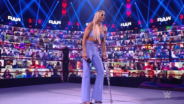Charlotte Flair Feigning Injury