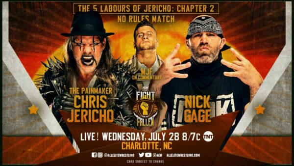 Chris Jericho vs Nick Gage AEW Fight for the Fallen Results