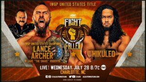 Hikuleo vs Lance Archer graphic