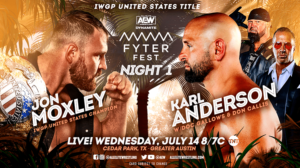 Jon Moxley vs Karl Anderson AEW Fyter Fest results