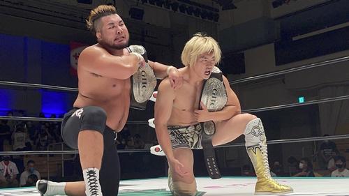Masa Kitamiya & Kaito Kiyomiya with GHC Heavyweight Tag Team Championship