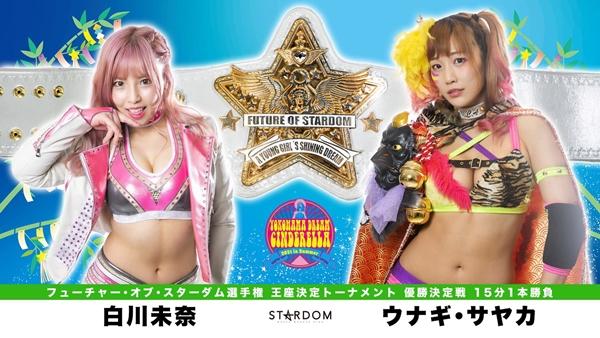 Mina Shirakawa vs Unagi Sayaka graphic