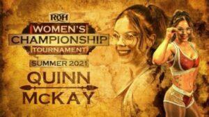Quinn McKay ROH Women's Championship Tournament