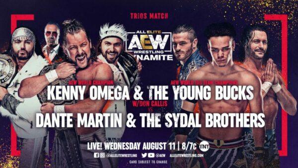 AEW Dynamite results The Elite vs Dante Martin and the Sydals