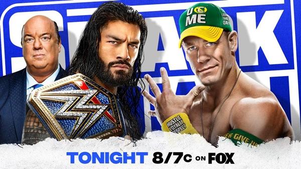 John Cena and Roman Reigns to meet on SmackDown