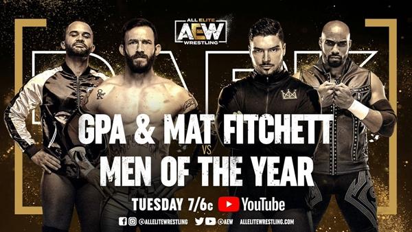 Mat Fitchett AEW Debut match graphic