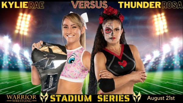 Thunder Rosa Kylie Rae Warrior Wrestling Women's Title