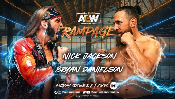 Bryan Danielson Rampage Debut vs Nick Jackson Graphic / AEW Rampage Results