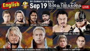 G1 Climax 31 Day 2