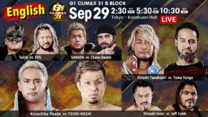 NJPW G1 Climax Day 6