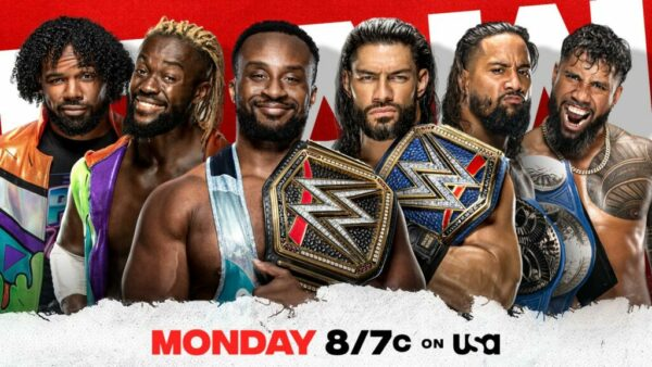 New Day vs The Bloodline WWE Raw Card