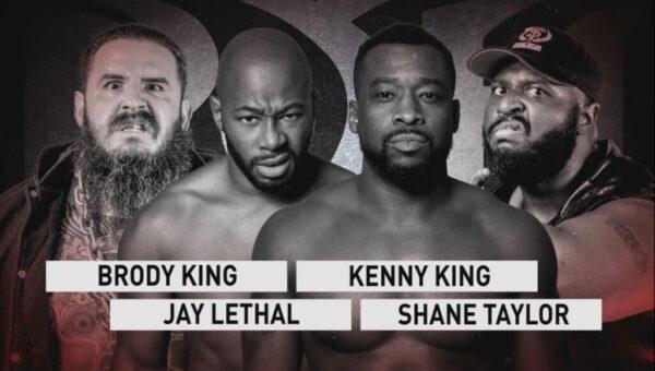 ROH TV #523 Brody King vs Jay Lethal vs Kenny King vs Shane Taylor