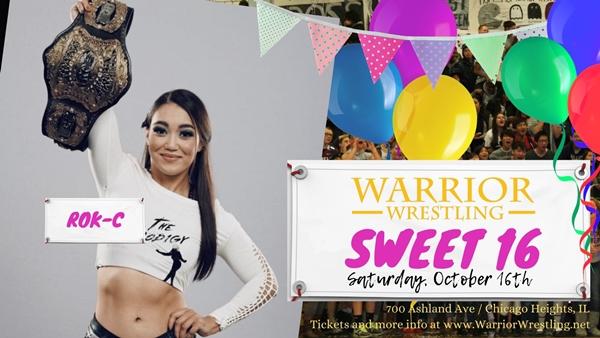 Rok-C Warrior Wrestling Debut Graphic