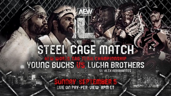 The Young Bucks vs The Lucha Brothers at All Out