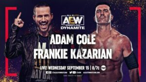 Adam Cole vs Frankie Kazarian AEW Dynamite results