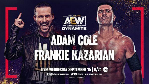 Adam Cole vs Frankie Kazarian AEW Dynamite