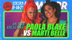 Paola Blaze vs Marti Belle NWA Powerrr