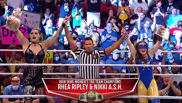 Rhea Ripley Nikki A.S.H. WWE Women's Tag Team Championship