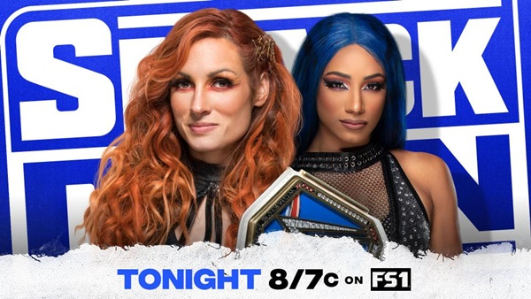 Becky Lynch vs Sasha Banks on on Supersized Friday Night SmackDown