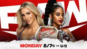 Charlotte Flair vs Bianca Belair WWE Raw card