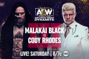 Cody Rhodes vs Malakai Black III on AEW Saturday Night Dynamite