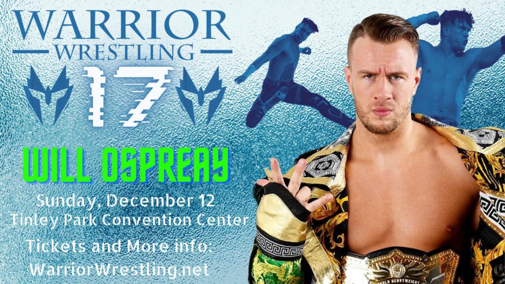 Will Ospreay hará su regreso a Warrior Wrestling en Chicago Heights