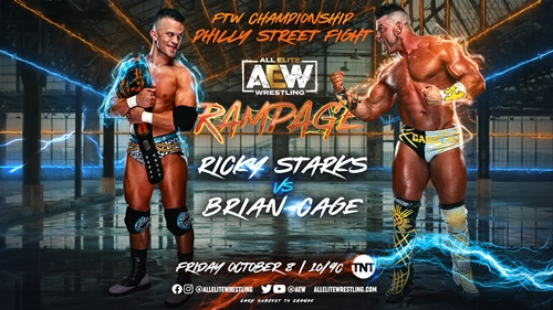 AEW Rampage Preview - Brian Cage vs Ricky Starks Graphic / AEW Rampage Results