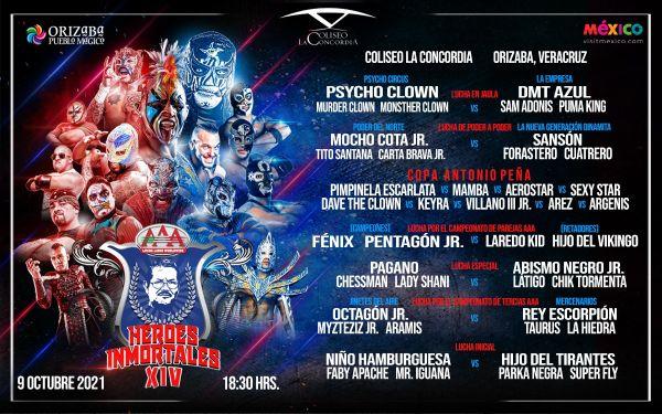 AAA Héroes Inmortales XIV (10/9/21)